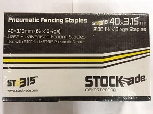 "StockAde 1 1/2"" (40mm) ST315 Smooth Staple 2100/carton"